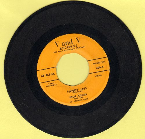 Adams, Eddie with The Mt. Rhythm Boys - Facy Lies/Pris'ner Of The Blues - VG7/ - 45 rpm Records