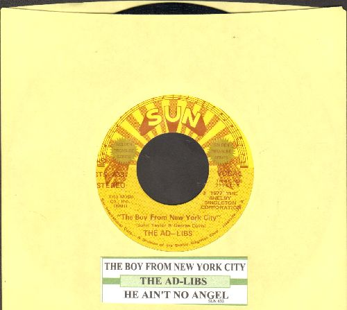 Ad-Libs - The Boy From New York City/He Ain't No Angel (double-hit re-issue with juke box label) - NM9/ - 45 rpm Records