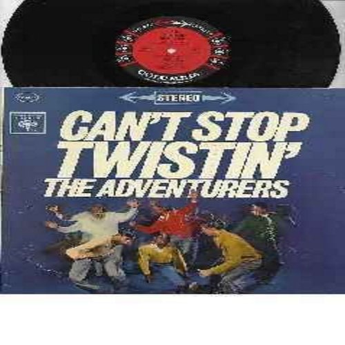 Adventurers - Can't Stop Twistin': The Twist, Peppermint Stick, You're A Teenager Now, Rock And Roll Uprising, My Mama Done Told Me, Wallflower (Vinyl LP record, RARE STEREO issue!) - M10/VG7 - LP Records