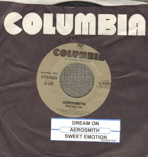 Aerosmith - Dream On/Sweet Emotion (double-hit re-isssue with juke box label and Columbia company sleeve) - EX8/ - 45 rpm Records