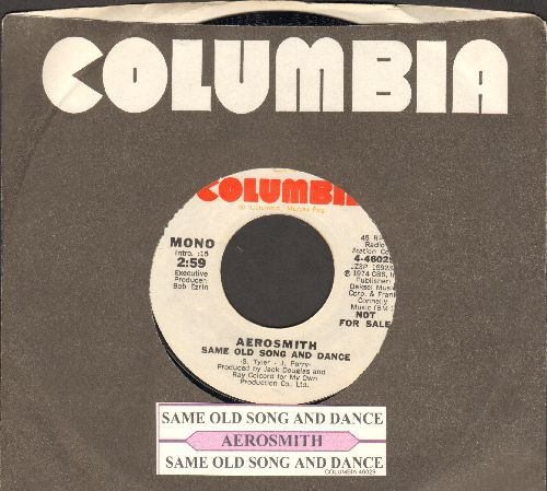 Aerosmith - Same Old Song And Dance (DJ advance pressing with MONO and STEREO version, with juke box label and company sleeve) - NM9/ - 45 rpm Records
