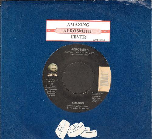 Aerosmith - Amazing/Fever (with juke box label and Geffen company sleeve) - VG7/ - 45 rpm Records