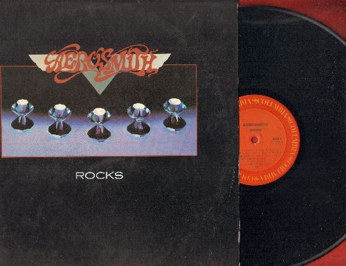 Aerosmith - Rocks: Sick As A Dog, Lick And A Promise, Rats In The Cellar, Nobody's Fault, Get The Lead Out (Vinyl STEREO LP record) - NM9/EX8 - LP Records