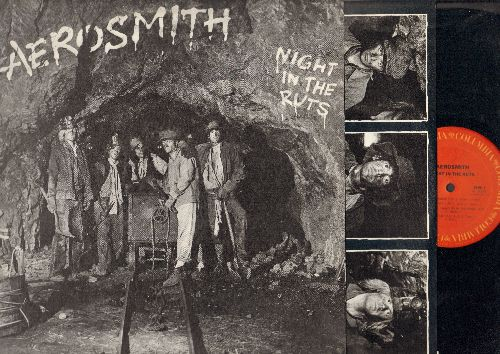 Aerosmith - Night In The Ruts: Remember (Walking In The Sand), Reefer Head Woman, Chiqita, Three Mile Smile, Think About It (vinyl STEREO LP record) - NM9/EX8 - LP Records