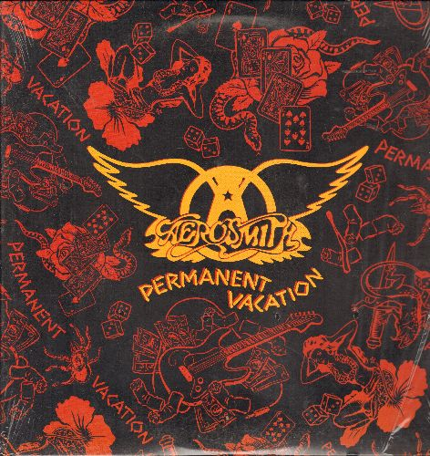 Aerosmith - Permanent Vacation: Dude (Looks Like A Lady), Angel, Hangman Jury, Rag Doll (vinyl STEREO LP record, BMG Club Pressing) - NM9/NM9 - LP Records