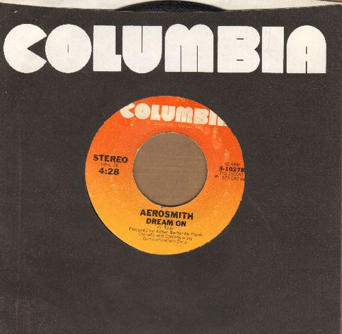 Aerosmith - Dream On/Somebody (with Columbia company sleeve) - EX8/ - 45 rpm Records