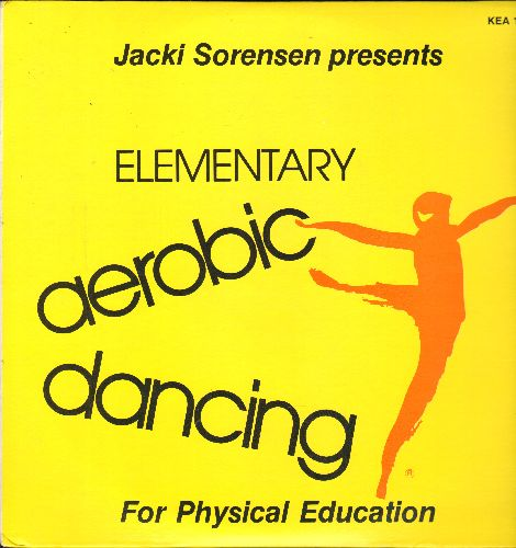 Sorensen, Jacki - Elementary Aerobic Dancing for Physical Education (Vocal Instructions and Music as well as Instrumental Only, with warm-up routines, Instrumental Only, 2 vinyl LP record set, gate-fold cover) - NM9/NM9 - LP Records