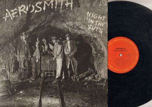 Aerosmith - Night In The Ruts: Remember (Walking In The Sand), Reefer Head Woman, Cheese Cake, Chiquita, Three Mile Smile (Vinyl STEREO LP record) - EX8/VG7 - LP Records