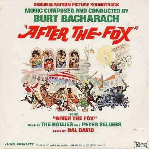 Sellers, Peter, The Hollies, Burt Bacharach - After The Fox - Original Motion Picture Sound Track featuring the hilarious Title Song by Peter Sellers and The Hollies (Vinyl MONO LP record) - NM9/NM9 - LP Records