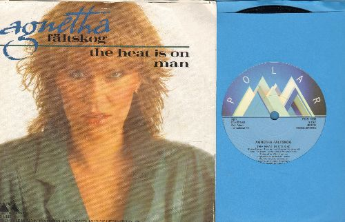 Faltskog, Agnetha - The Heat Is On/Man (7 inch 45rpm record with small spindle hole, Swedish Pressing with picture sleeve) - NM9/NM9 - 45 rpm Records