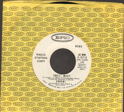 Argent - Sweet Mary (double-A-sided DJ advance pressing with Epic company sleeve) - NM9/ - 45 rpm Records