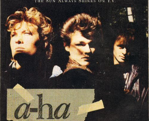 A-Ha - The Sun Always Shines On T.V./Driftwood (with juke box label and picture sleeve) - NM9/EX8 - 45 rpm Records