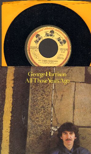 Harrison, George - All Those Years Ago/Writing's On The Wall (with picture sleeve) - NM9/EX8 - 45 rpm Records