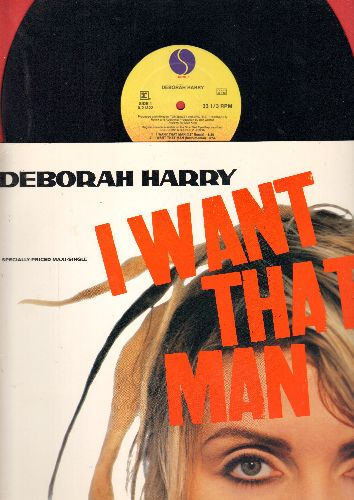 Harry, Deborah - I Want That Man (3 Different Dance Club Versions)/Bike Boy (12 inch vinyl Maxi Single with picture cover) - NM9/NM9 - Maxi Singles
