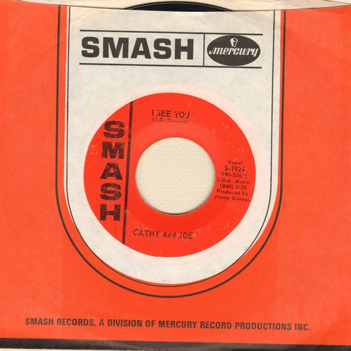 Cathy & Joe - It's All Over Now/I See You (with Smash company sleeve) - EX8/ - 45 rpm Records
