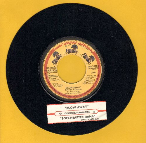 Harrison, George - Blow Away/Soft-Hearted Hana (with juke box label) - EX8/ - 45 rpm Records