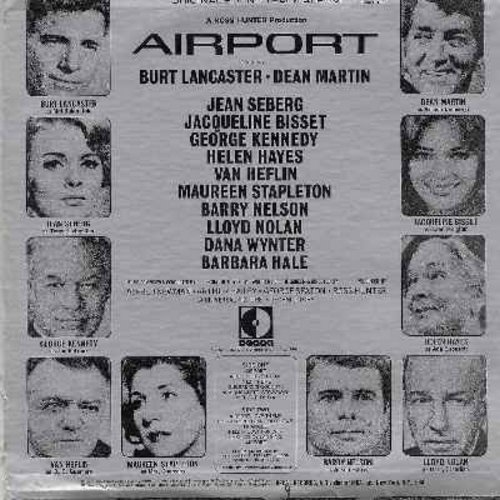 Newman, Alfred - Airport - Original Motion Picture Sound Track featuring the music composed and conducted by Alfred Newman (Vinyl STEREO LP record, burgundy label first issue) - NM9/VG7 - LP Records