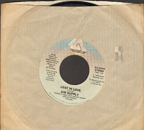 Air Supply - Lost In Love/I Don't Want To Lose You (with Arista company sleeve) - NM9/ - 45 rpm Records