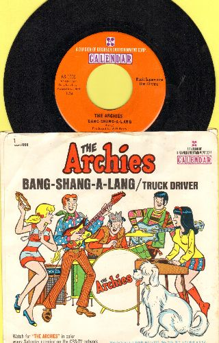 Archies - Bang-Shang-A-Lang/Truck Driver (with picture sleeve) - NM9/EX8 - 45 rpm Records