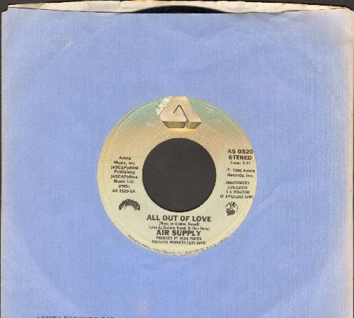 Air Supply - All Out Of Love/Old Habits Die Hard (with Arista company sleeve) - NM9/ - 45 rpm Records