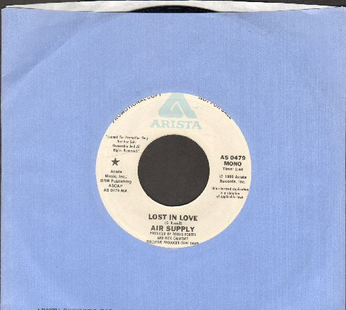 Air Supply - Lost In Love (double-A-sided DJ advance pressing with Arista company sleeve) - NM9/ - 45 rpm Records