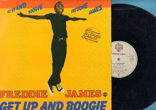James, Freddie - Get Up And Boogie (7:02 minutes Extended Disco Version)/(3:36 Minutes radio Version) (12 inch Maxi Single with picture cover, French Pressing) - VG7/VG7 - Maxi Singles