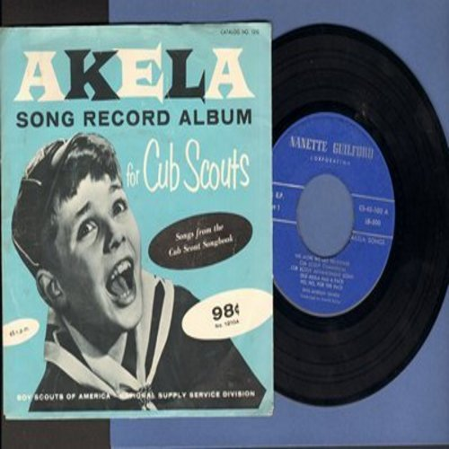 Morgan, Rhys Chorus - AKELA Song Record Album for Cub Scouts - songs from the Cub Scouts Songbook (Vinyl EP record with picture cover) - EX8/EX8 - 45 rpm Records