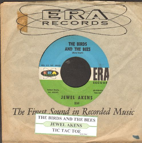 Akens, Jewel - The Birds And The Bees/Tic Tac Toe (with juke box label and RARE vintage ERA company sleeve) - NM9/ - 45 rpm Records