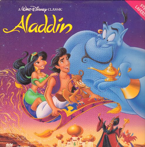 Aladdin - Disney's Aladdin Animated Classic LASER DISC - NM9/EX8 - Laser Discs