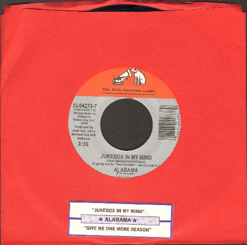 Alabama - Jukebox In My Mind/Give Me One More Shot (with juke box label) - NM9/ - 45 rpm Records