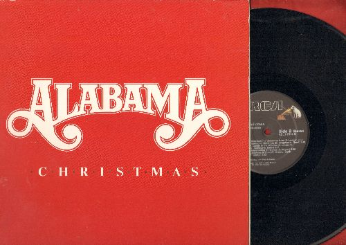 Alabama - Christmas: Santa Claus (I Still Believe In You), Tennessee Christmas, Christmas In Dixie, Happy Holidays (vinyl STEREO LP rdcord, gate-fold cover) - NM9/NM9 - LP Records