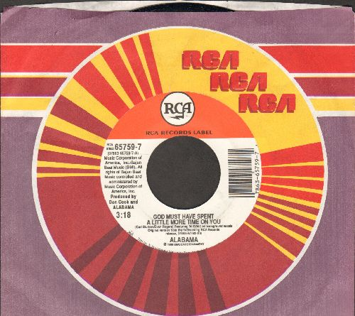 Alabama - God Must Have Spent A Little More Time On You/Sad Lookin' Moon (with RCA company sleeve) - NM9/ - 45 rpm Records
