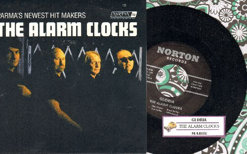 Alarm Clocks - Gloria/Marie (Cleveland Garage Rock, 2006 issue with picture sleeve and juke box label) - NM9/NM9 - 45 rpm Records
