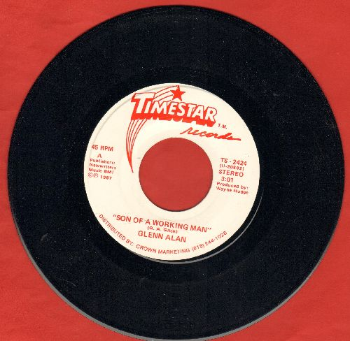 Alan, Glenn - Son Of A Working Man (double-A-sided DJ advance pressing) - NM9/ - 45 rpm Records