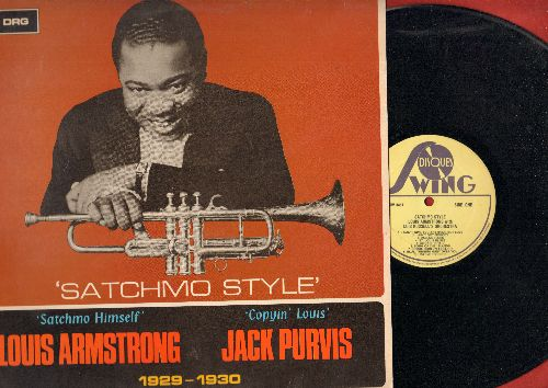 Armstrong, Louis - Satchmo Style 1929-1930: I Can't Give You Anything But Love, St. Louis Blues, Poor Richard, I Ain't Got Nobody (vinyl LP record, 1968 issue of vintage Jazz recordings) - NM9/NM9 - LP Records