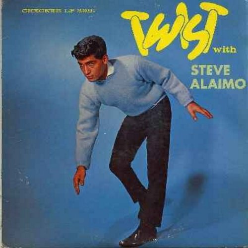Alaimo, Steve - Twist With Steve Alaimo: The Twist, Lucille, Boppin' The Blues, Let's Twist Again, This Little Girl's Gone Rockin', Do The Mashed Potatoes, Do The Hully Gully (Vinyl MONO LP record) - EX8/VG7 - LP Records