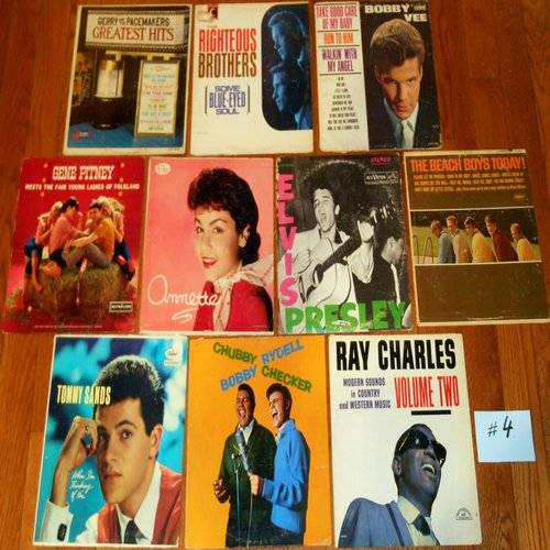 Original 1950s & 1960s LP Picture Covers - 10 Original LP picture covers SET 14-4 (exactly as pictured). NO records are included. GREAT for decorating a party room, or for a themed event. - VG6/EX8 - LP Records