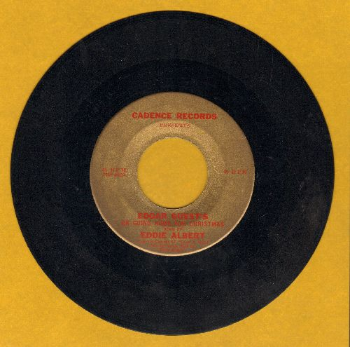 Albert, Eddie - Edgar Guest's -On Going Home For Christmas- read by Eddie Albert (RARE one-sided Special Pressing!) - EX8/ - 45 rpm Records