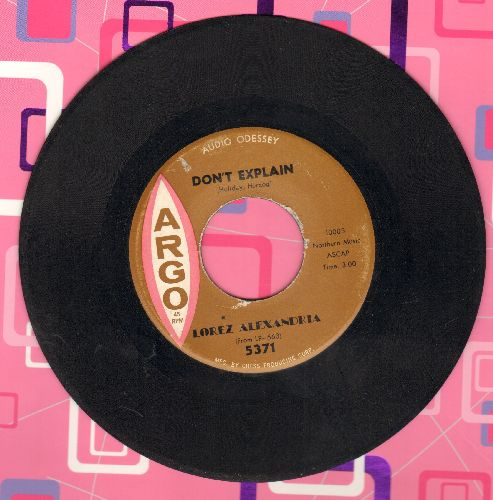 Alexandria, Lorez - Don't Explain/I Almost Lost My Mind - EX8/ - 45 rpm Records