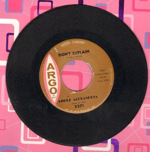 Alexandria, Lorez - Don't Explain/I Almost Lost My Mind - EX8/ - 45 rpm Records
