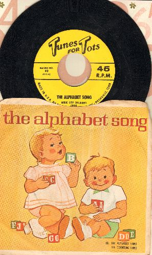 Music City Singers - The Alphabet Song/The Counting Song (with picture sleeve) - NM9/EX8 - 45 rpm Records