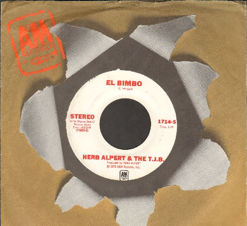 Alpert, Herb & The Tijuana Brass - El Bimbo (double-A-sided DJ advance pressing with A&M company sleeve) - EX8/ - 45 rpm Records