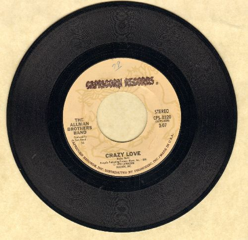 Allman Brothers Band - Crazy Love/Just Ain't Easy - EX8/ - 45 rpm Records