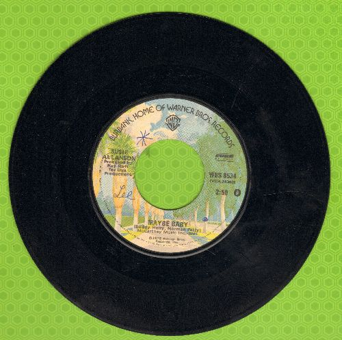 Allanson, Sisie - Maybe Baby (NICE version of the Buddy Holly Classic!)/Hide Me In Your Love - EX8/ - 45 rpm Records
