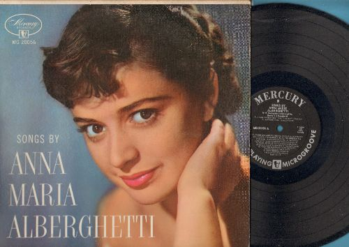 Alberghetti, Anna Maria - Songs By Anna Maria Alberghetti:Gianna Mia, Dancing Doll, The Blonde Girl In The Gondola (vinyl MONO LP record, 1955 first pressing) - EX8/VG7 - LP Records