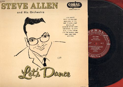 Allen, Steve & His Orchestra - Let's Dance: Don't Be That Way, One O'Clock Jump, King Porter Stomp, Sing Sing Sing, And The Angels Sing (vinyl MONO LP record) - VG7/NM9 - LP Records