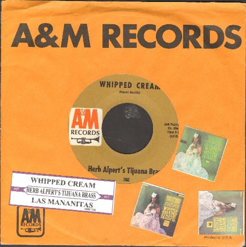 Alpert, Herb  - Whipped Cream/Las Mananitas (with juke box label and company sleeve) - NM9/ - 45 rpm Records
