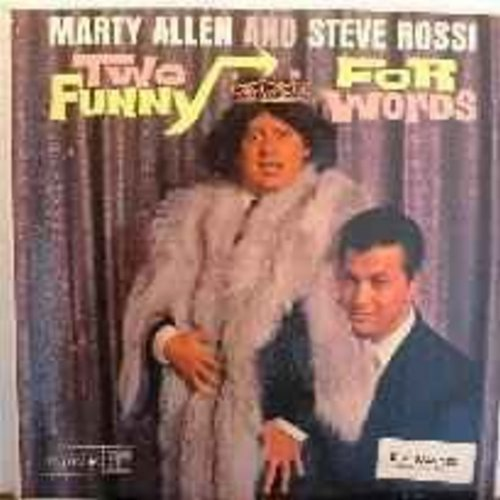 Allen, Marty & Steve Rossi - Two Funny For Words: Cleopatra, Playboy Bunny, Olympic Coach, Dog Days and other comedy routines (DJ copy) - NM9/EX8 - LP Records