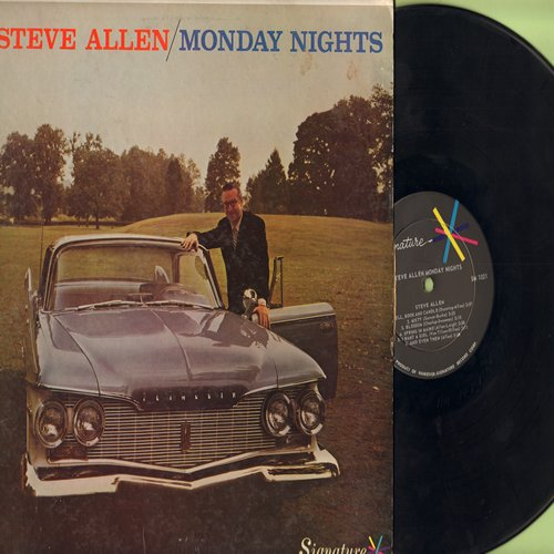 Allen, Steve - Monday Nights: Bell Book And Candle (Enchanting VOCAL version of the movie theme!), Misty, Laura, Impsossible, Houseboat, You're Driving Me Crazy (vinyl STEREO LP record) - EX8/VG7 - LP Records