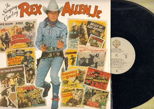 Allen, Rex, Jr. - The Singing Cowboy: Last Of The Silver Screen Cowboys (With Roy Rogers and Rex Allen Sr.), Ride Cowboy Ride, Round Up Time (vinyl STEREO LP record) - NM9/NM9 - LP Records